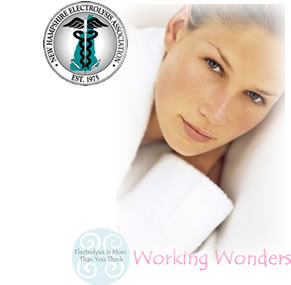 New Hampshire Electrolysis Association Logo | Woman with hair-free skin